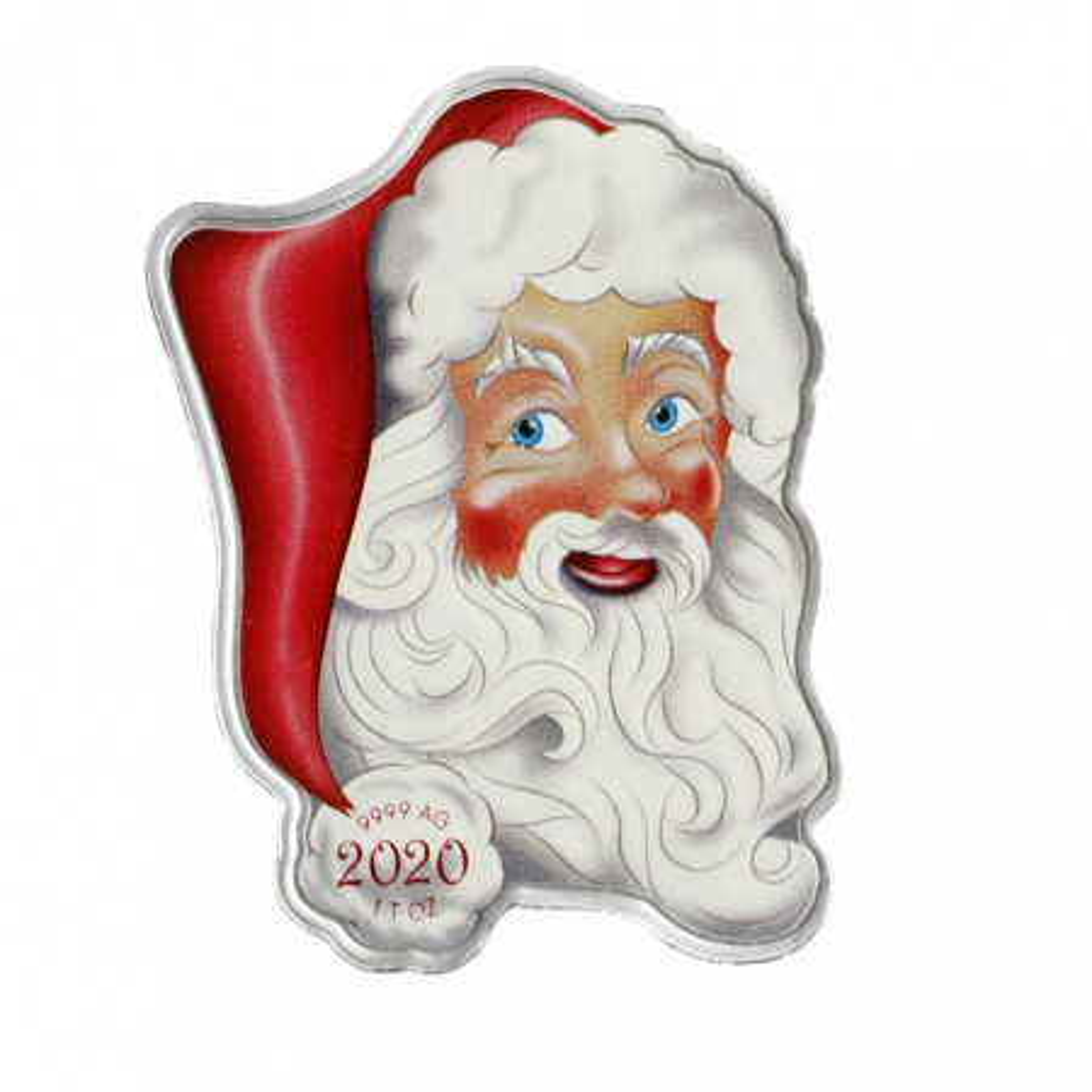 1 oz zilveren munt kerstman 2020