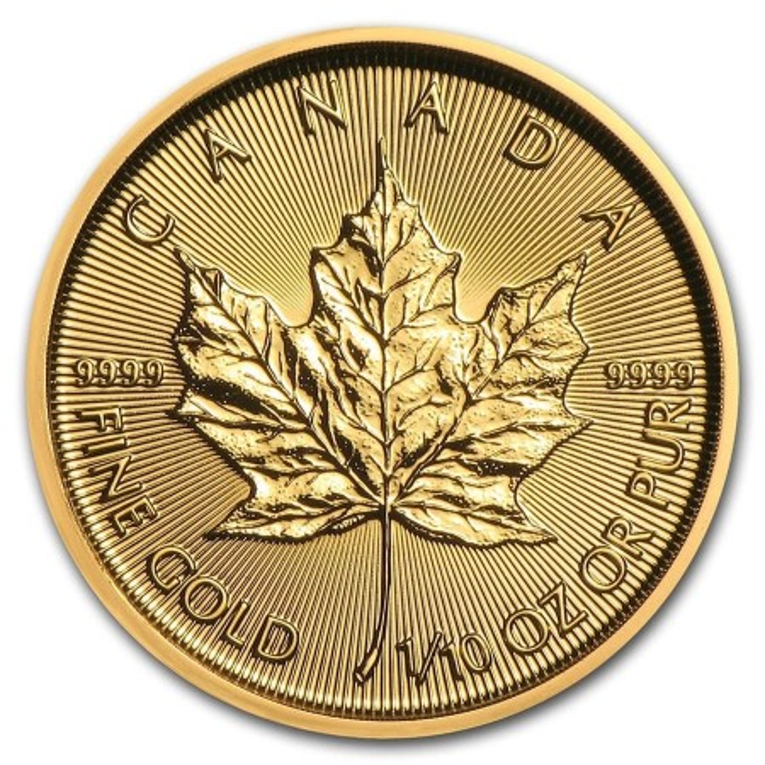 1/10 Troy ounce gouden Maple Leaf munt 2021