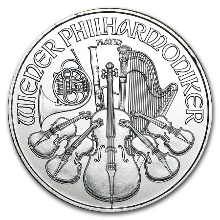 1 Troy ounce Platina Philharmoniker munt 2020