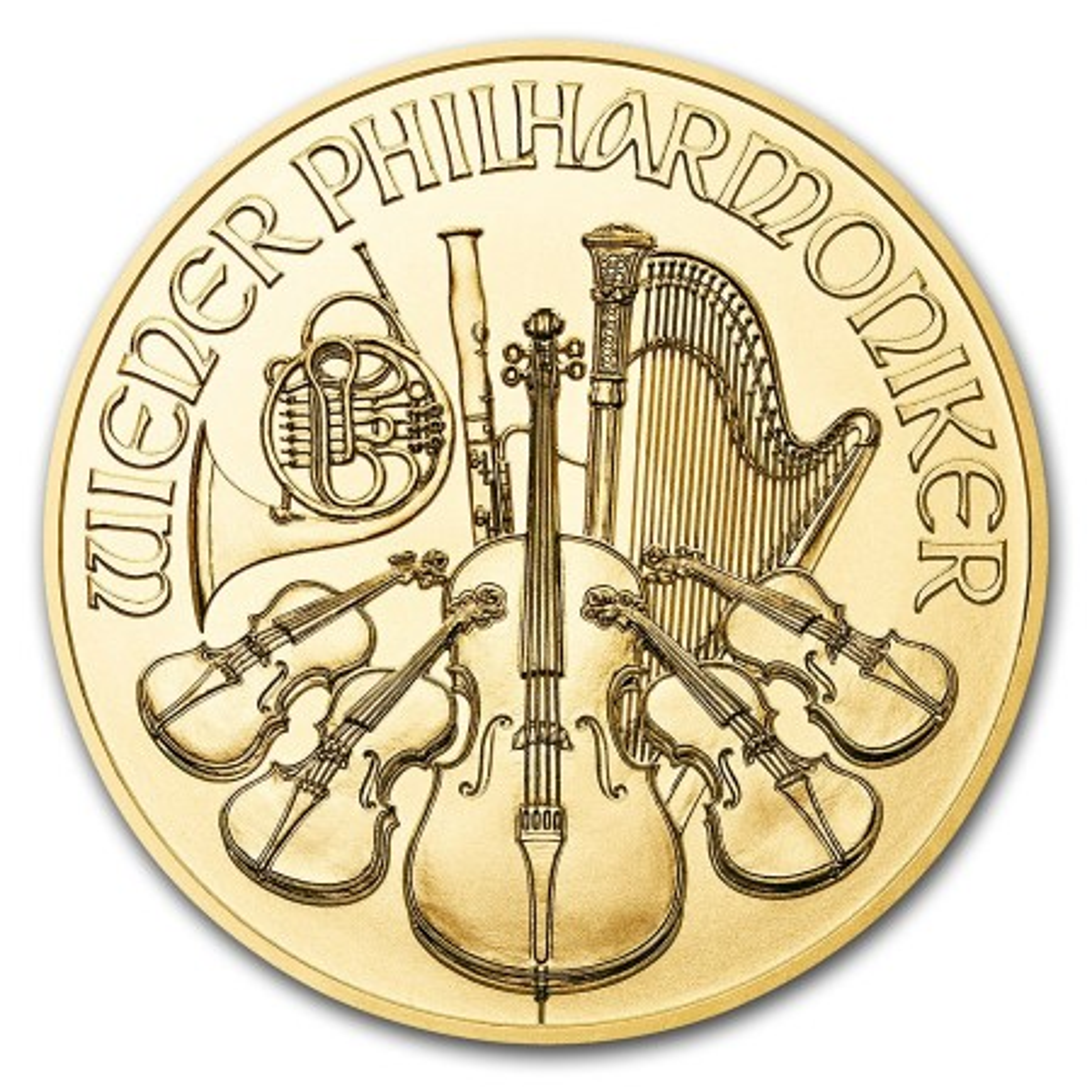 1/2 Troy ounce gouden munt Philharmoniker 2019