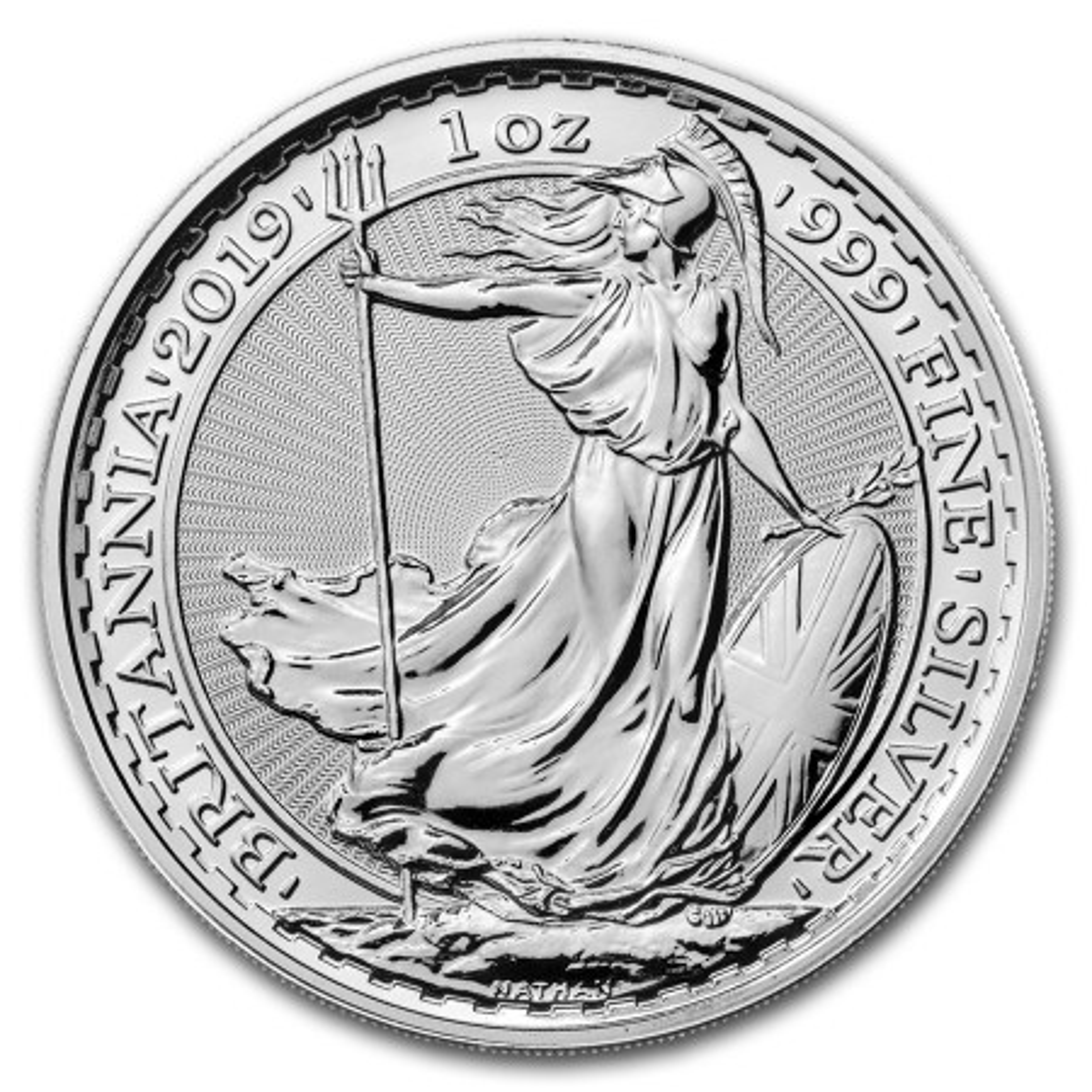 1 troy ounce zilveren munt Britannia 2019