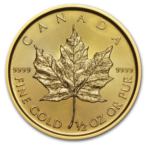 1/2 troy ounce goud maple leaf munt 2021