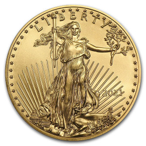 1 troy ounce gouden American Eagle 2021