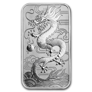 Zilveren muntbaar Rectangular Dragon 2018