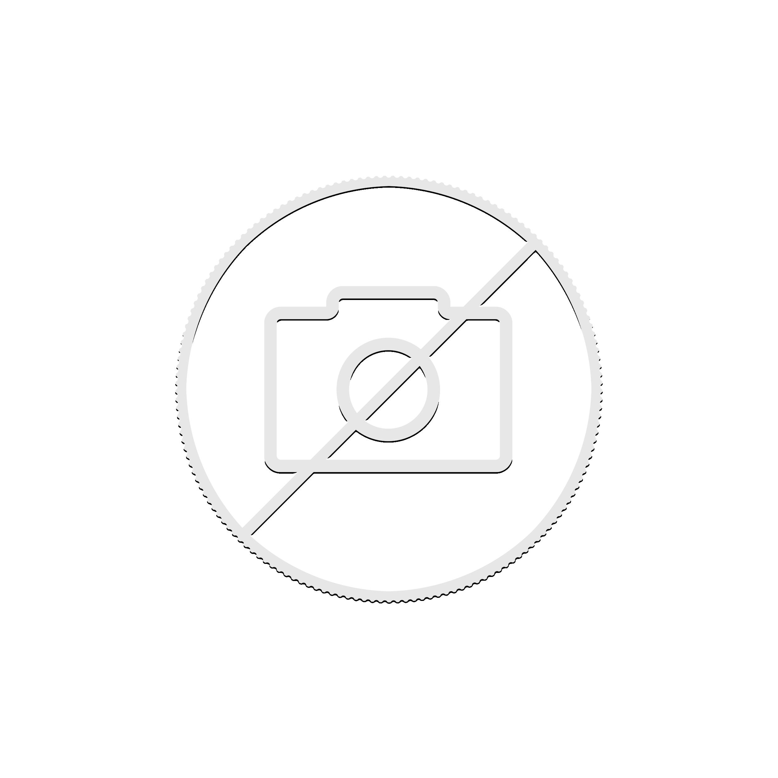 Gekleurde Kangoeroe 1 troy ounce zilveren munt 2020