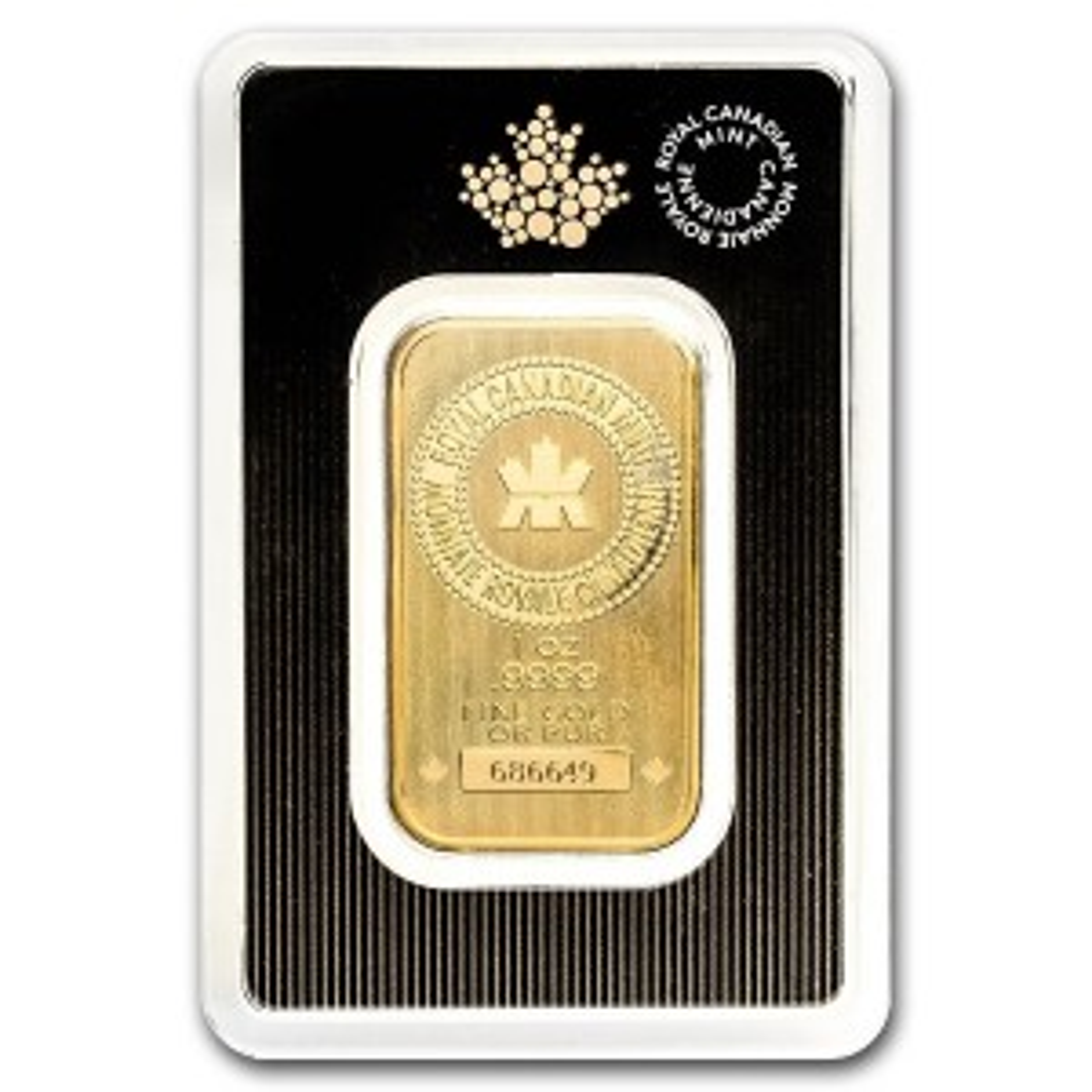 Goudbaar 31,1 gram Royal Canadian Mint