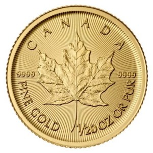 Maple Leaf goud 1/20 troy ounce