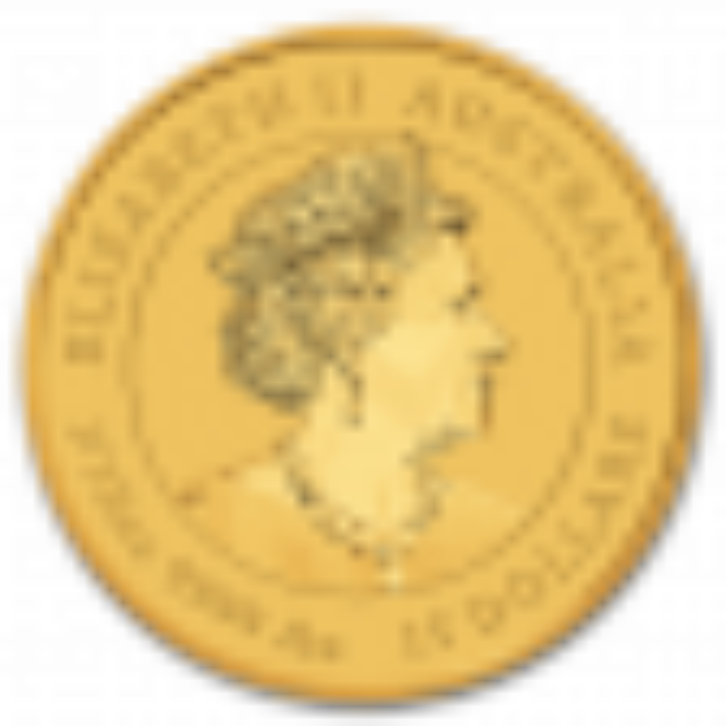 1/10 Troy ounce gouden munt Lunar 2020 - achterkant