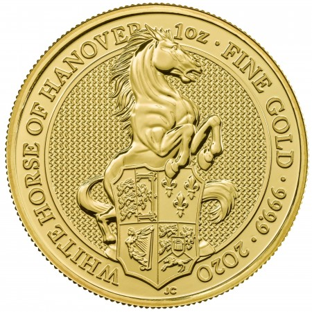 1 Troy ounce gold coin Queens Beasts White Horse 2020