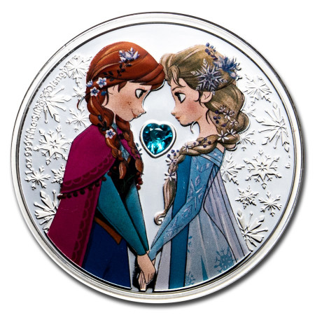 Disney Frozen - sisters forever 1 troy ounce silver coin 2020 Proof