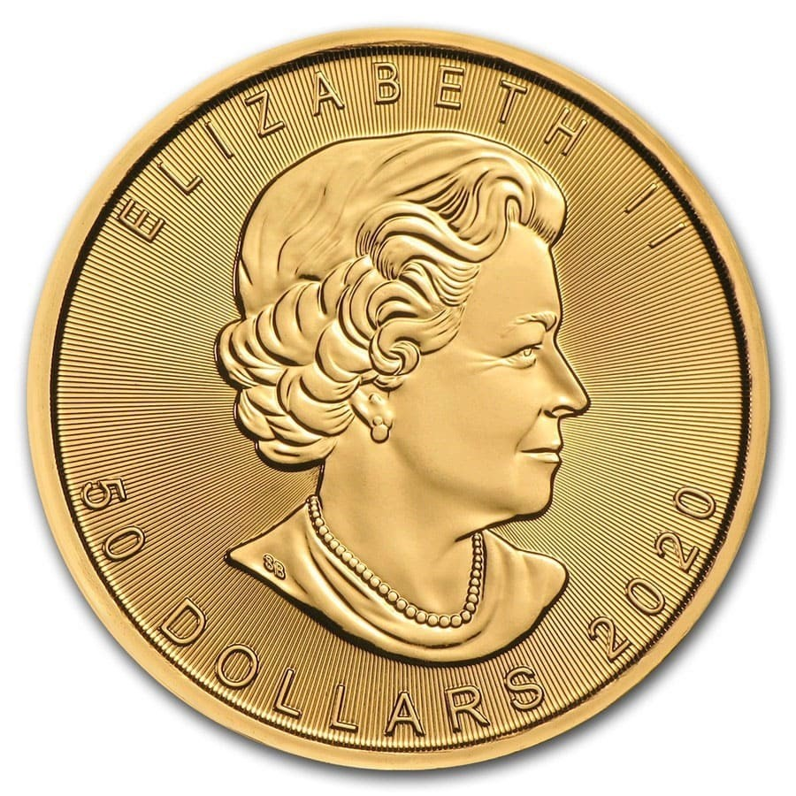 Maple Leaf Gold 1 Troy Ounce 2020