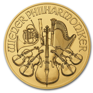 1/10 troy ounce gold Wiener Philharmonic coin 2021
