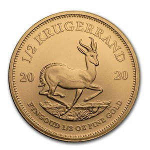 Krugerrand gold 1/2 troy ounce 2018