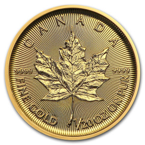 Maple Leaf gold 1/20 troy ounce 2020 2021