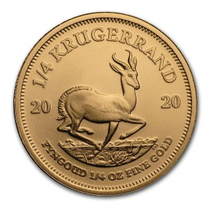 1/4 Troy ounce gold Krugerrand coin 2020