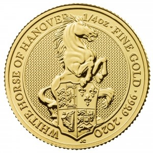 Gold coin 1/4 oz Queens Beasts White Horse 2020