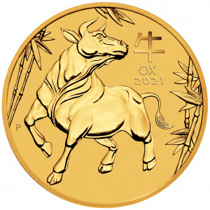 1 Troy ounce gold coin Lunar 2021 - Ox