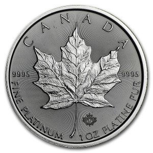 1 Troy ounce Platinum coin Maple Leaf 2021