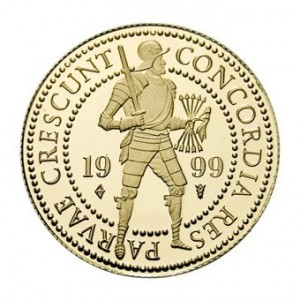 Gold coin double Ducat - front