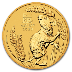 1/10 Troy ounce gold coin Lunar 2020