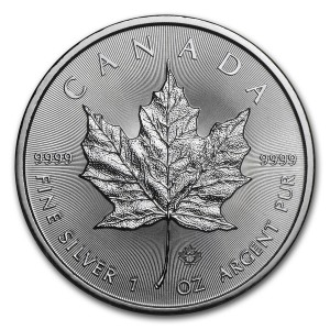 1 Troy ounce zilveren Maple Leaf munt 2019