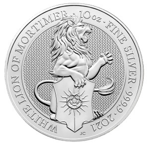 Queens Beasts White Lion 10 troy ounce silver coin