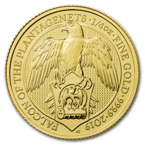 1/4 Troy ounce gold coin Queens Beasts Falcon 2019