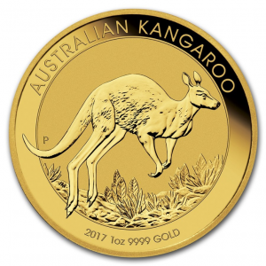 1 troy ounce gold Kangaroo coin various years