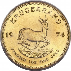 Krugerrand gold 1 troy ounce (circulated)