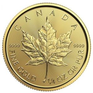 Maple Leaf goud 1/4 troy ounce 2019 golden coin