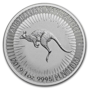 1 Troy ounce Platinum Kangaroo coin 2019